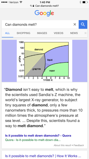 diamond-melt