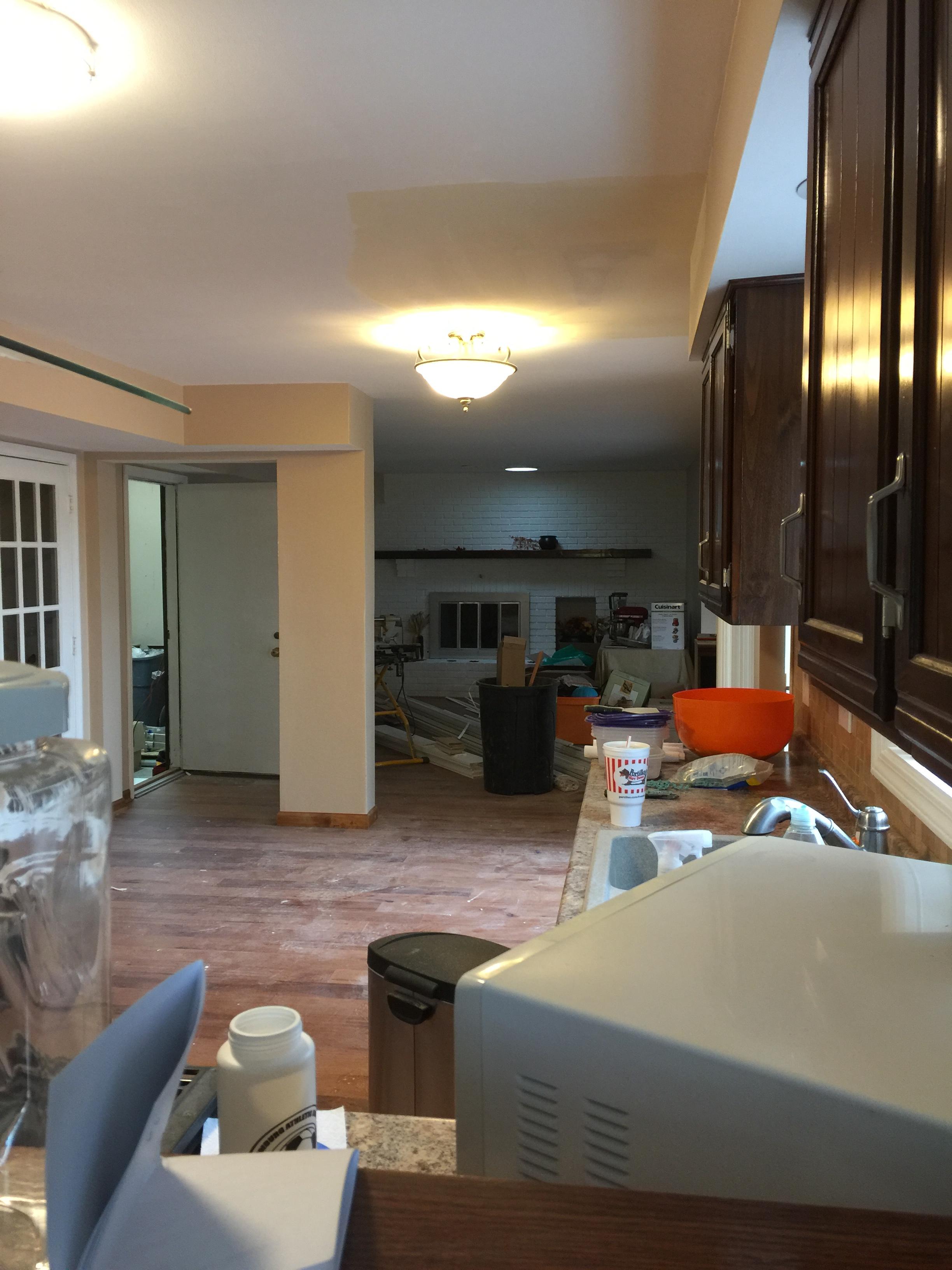 Kitchen a mess